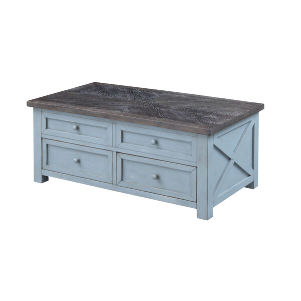 Bar Harbor Blue 46-Inch Cocktail Table, image 1