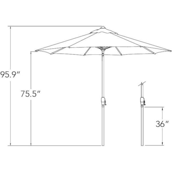 Aruba Lemon Market Umbrella, image 3