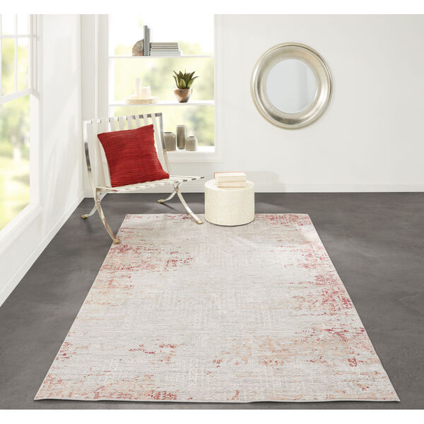 Genevieve Red Rectangular: 3 Ft. 10 In. x 5 Ft. 7 In. Rug, image 2