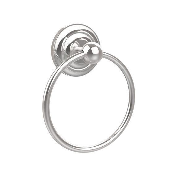 Prestige Que-New Polished Chrome Towel Ring, image 1