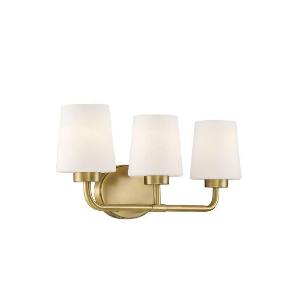 Capra Warm Brass Three-Light Bath Vanity, image 4