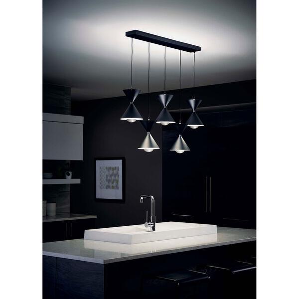 Kordan Black Five-Light LED Pendant, image 5