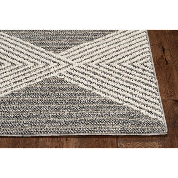 Terrace Gray and Ivory Rectangular: 4 Ft. x 5 Ft. 9 In. Rug, image 2