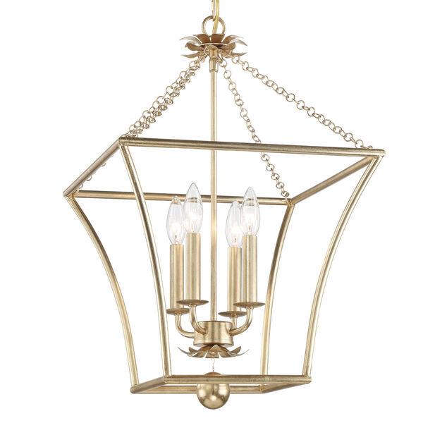 Broche Antique Gold Four-Light Pendant, image 2