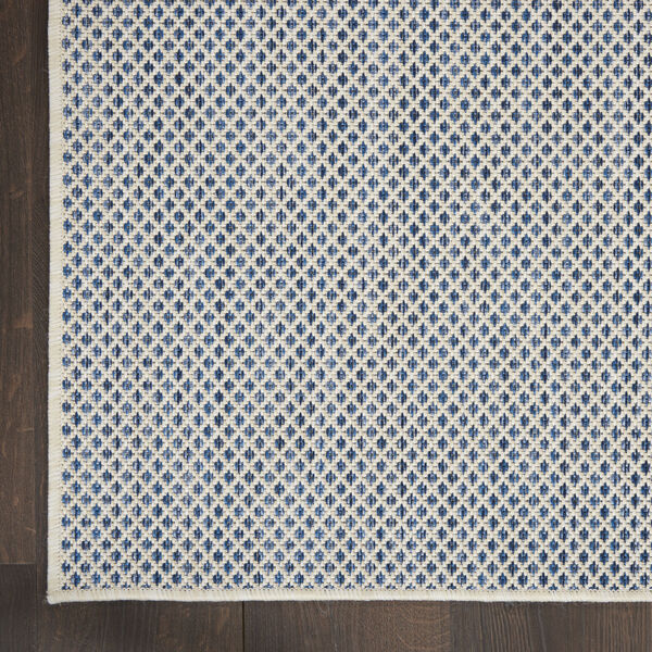 Courtyard Ivory and Blue 4 Ft. x 6 Ft. Rectangle Indoor/Outdoor Area Rug, image 4