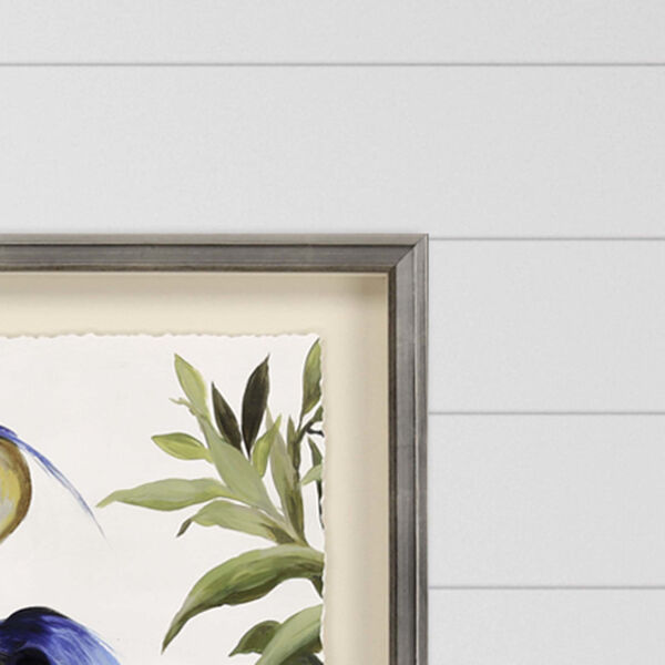 Blue 44 H x 35 W-Inch Blue Heron Wall Art, image 3