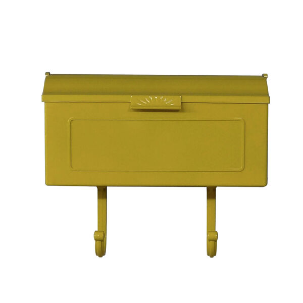 Nash Yellow Horizontal Mailbox, image 1