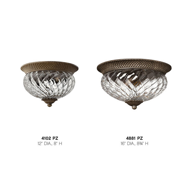 Plantation Pearl Bronze Two-Light Flush Ceiling Light, image 4