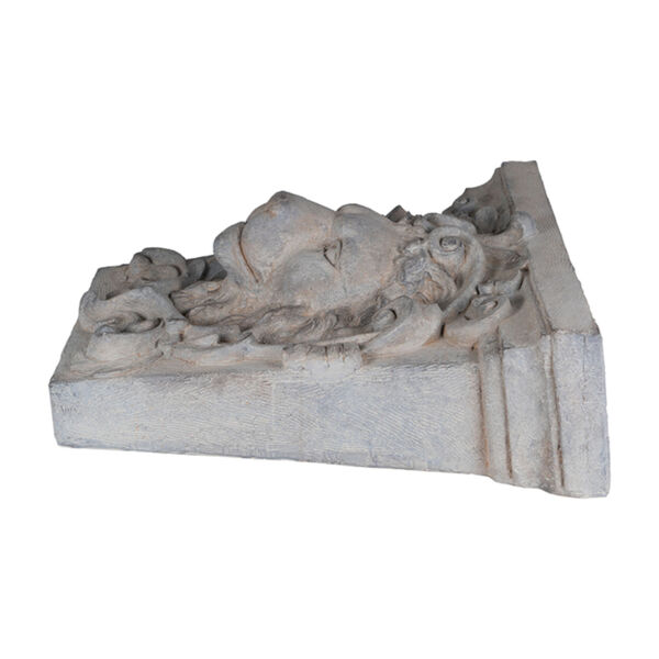 Gray 22-Inch Lions Head Outdoor Wall Decor, image 4