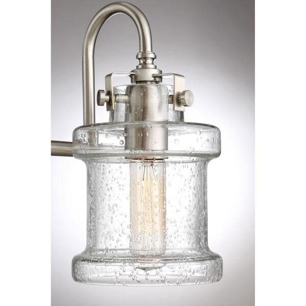 Danbury Brushed Nickel Three-Light Bath Vanity, image 5