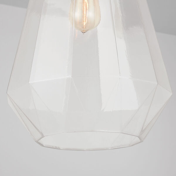One-Light Pendant with Clear Prismatic Glass, image 5