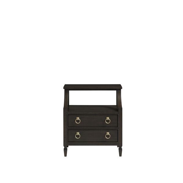 Espresso One-Drawer Wood Nightstand, image 1
