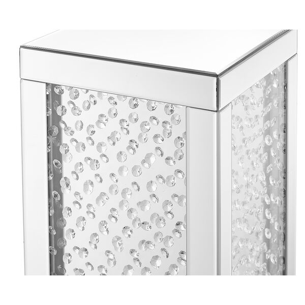 Modern Mirrored 20-Inch Crystal End Table, image 6