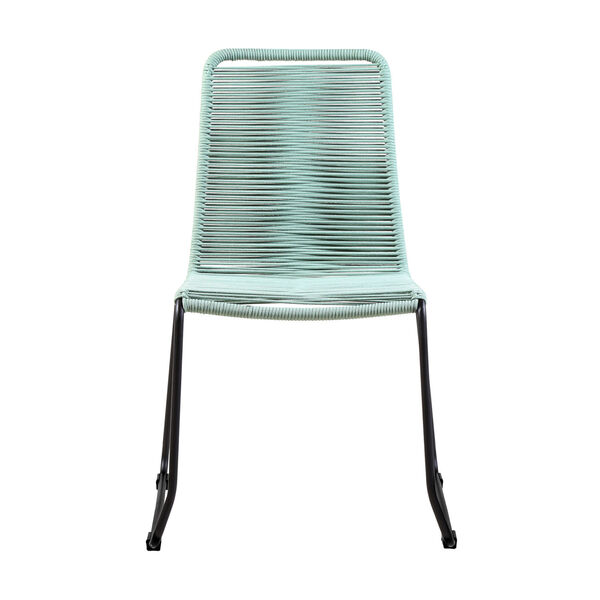 Shasta Black Wasabi Outdoor Dining Chair, Set of Two, image 2