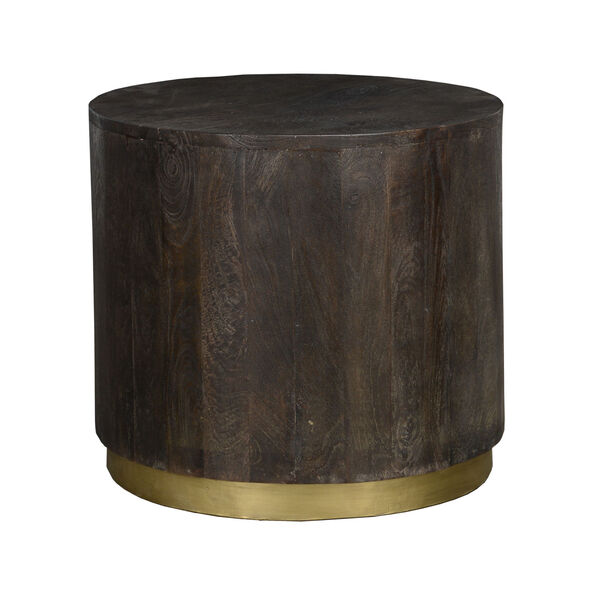 Andy Espresso Brown and Antique Brass End Table, image 1