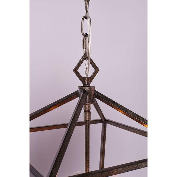 Kenwood Antique Silver Five-Light Linear Pendant, image 2