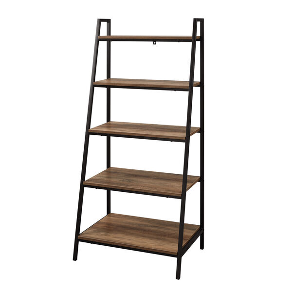 Arlo Reclaimed Barnwood Five Shelf Ladder Bookshelf, image 4