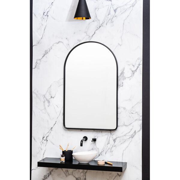 Sebastian Black 38-Inch Arched Wall Mirror, image 1