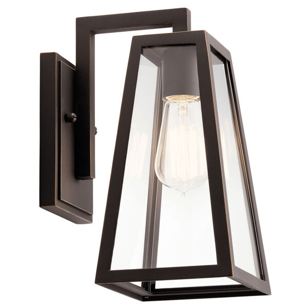 Delison Rubbed Bronze Seven-Inch One-Light Outdoor Wall Sconce, image 1