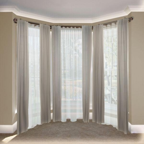 Eleanor Cocoa 108-Inch Bay Window Double Curtain Rod, image 2