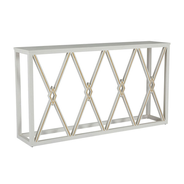 Alandra Cerused White and Stained Gold Console Table, image 1