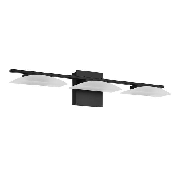 Metrass 3 Black Three-Light LED Bath Vanity, image 1