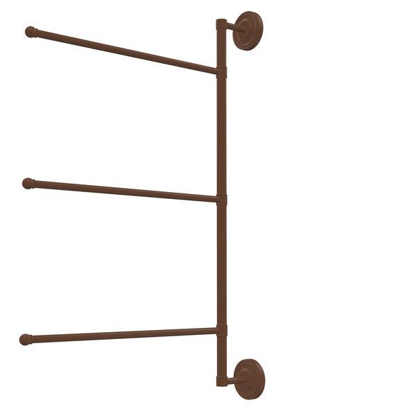 Prestige Regal Collection 3 Swing Arm Vertical 28-Inch Towel Bar, image 1