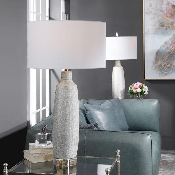 Kathleen Metallic Silver and Brushed Nickel Table Lamp, image 2