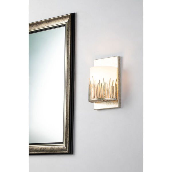 Sawgrass Silver Leaf with Antique One-Light Wall Sconce, image 2
