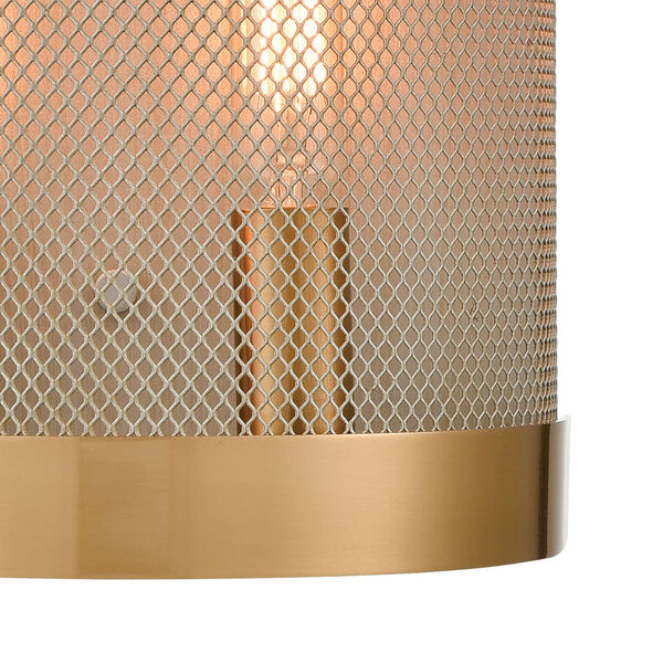 Line in the Sand Satin Brass and Antique Silver Two-Light Wall Sconce, image 4