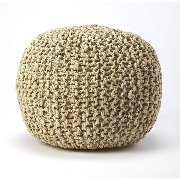 Pincushion Woolen Woven Round Pouf, image 2