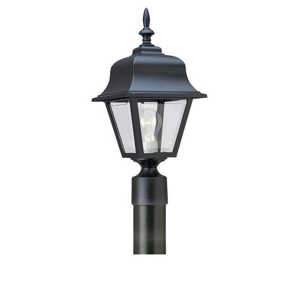 Black One-Light Outdoor Post Mount , image 1
