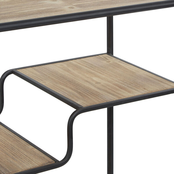 Gunmetal and Light Graphite Wood Multi-tiered Table Cart, image 2