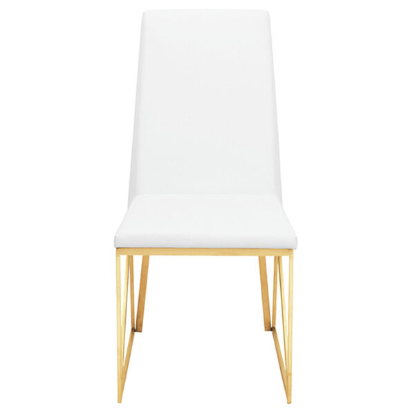 Caprice White and Gold Dining Chair, image 2