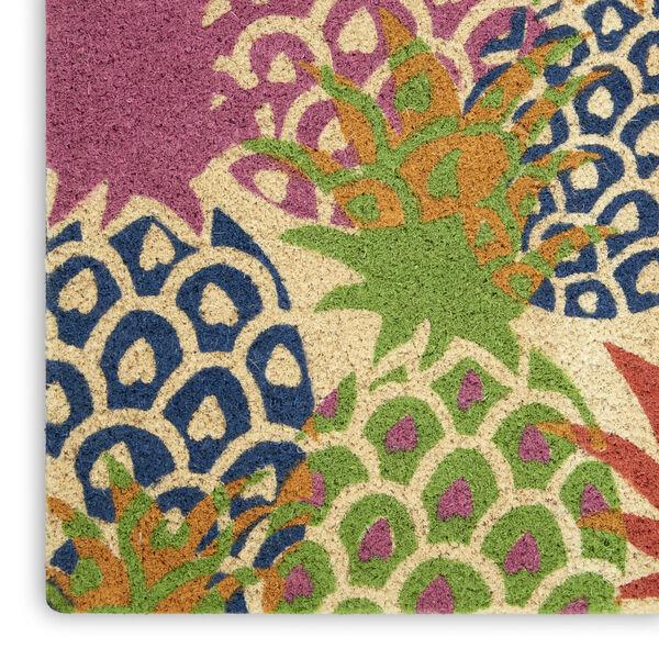 Wav17 Greetings Multicolor Rectangle Door Mat, image 5