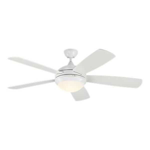 Discus Matte White 52-Inch DC Energy Star LED Smart Ceiling Fan, image 2