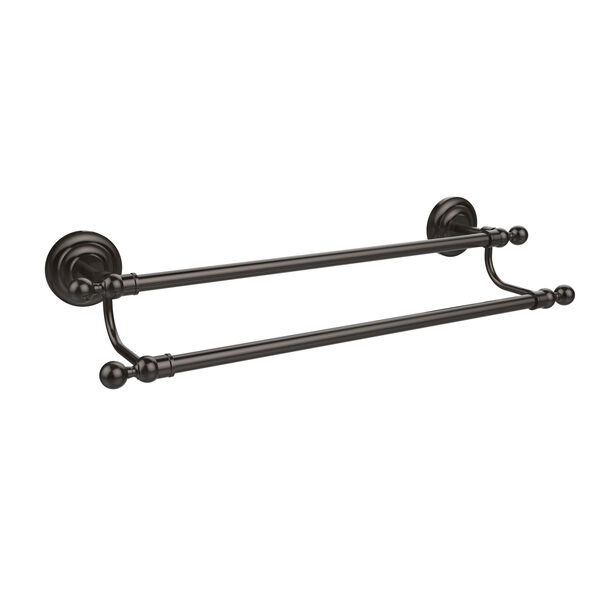Oil Rubbed Bronze 24-Inch Double Towel Bar, image 1