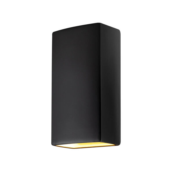 Ambiance Carbon Matte Black 11-Inch Closed Top GU24 LED Rectangle Outdoor Wall Sconce, image 1