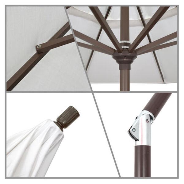 9 Foot Umbrella Aluminum Market Push Tilt - Bronze/Sunbrella/Canvas, image 2