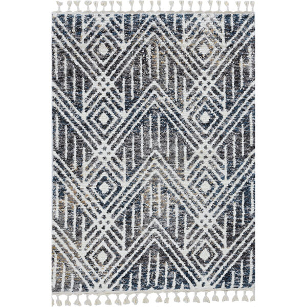 Bungalow Gray and Ivory Rectangular: 7 Ft. 10 In. x 10 Ft. 6 In. Rug, image 1