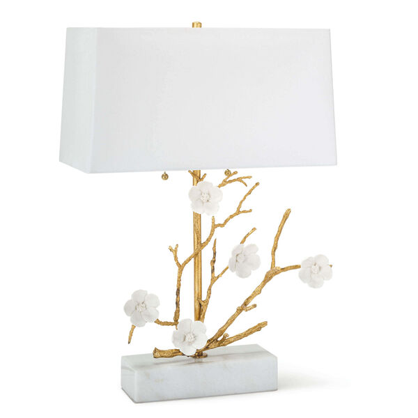 Cherise Gold Two-Light Horizontal Table Lamp, image 1