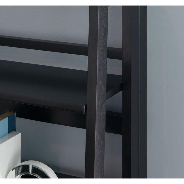 Olivia Black Folding Bookcase, image 6