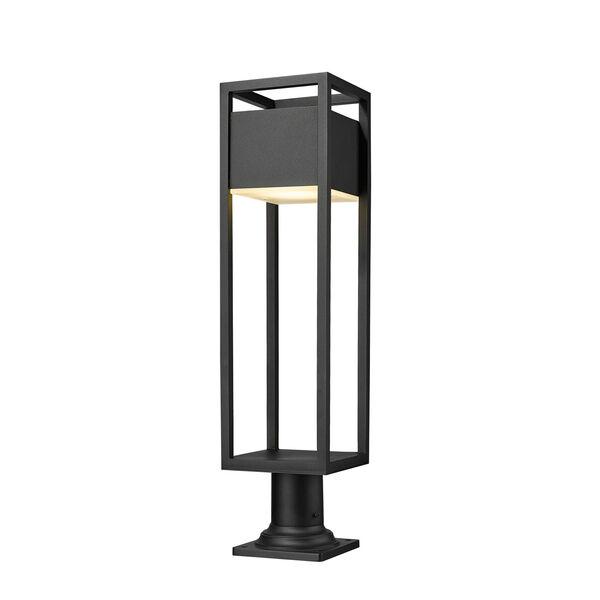 Barwick Black 29-Inch One-Light LED Outdoor Pier Mount, image 1