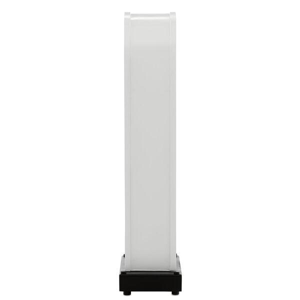 Lapidus Sugar White and Satin Black One-Light Table Lamp, image 4