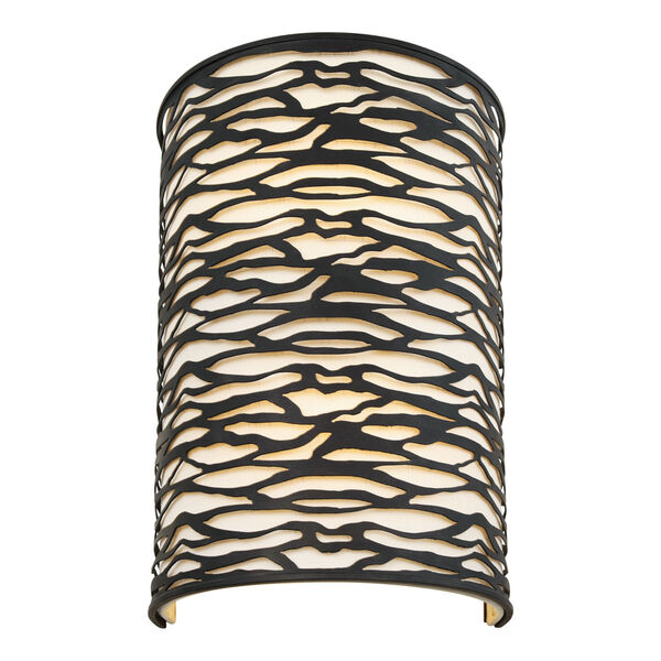 Kato Carbon Black Two-Light Wall Sconce, image 2
