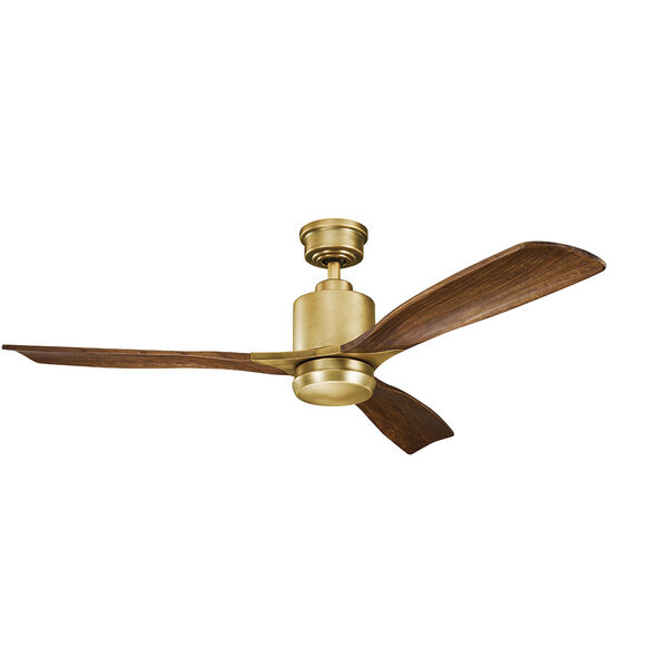 Ridley II Natural Brass 52-Inch LED Ceiling Fan, image 2