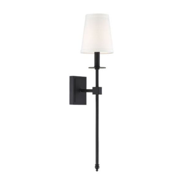 Linden Matte Black 24-Inch One-Light Wall Sconce, image 3