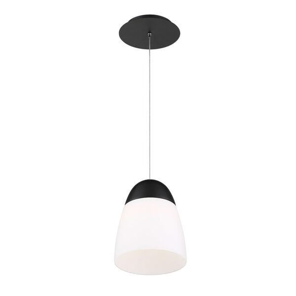 Dimple Black Seven-Inch LED Mini Pendant, image 1