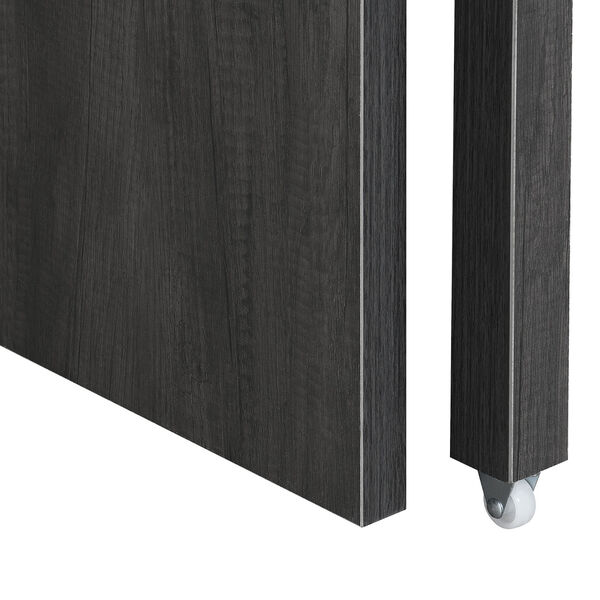 Newport JB Charcoal Gray Sliding Desk with Drawer and Riser, image 5