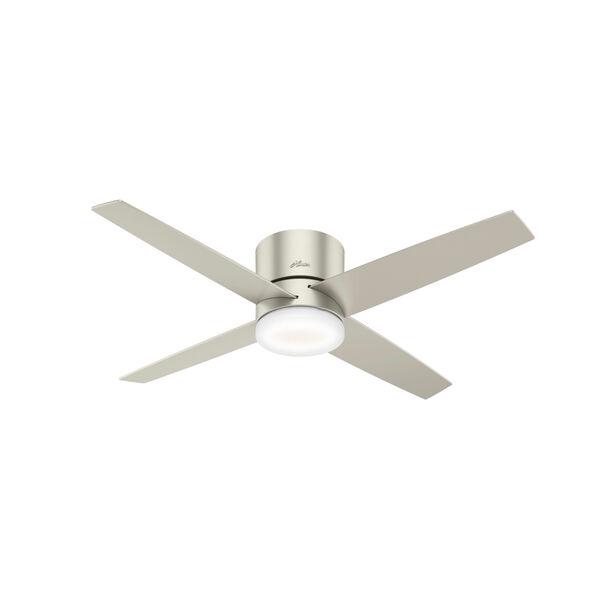 Advocate Low Profile Matte Nickel 54-Inch DC Motor Smart LED Ceiling Fan, image 1